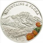 Palau - 2009 - 5 Dollars - Flora & Mountains MONT BLANC (PROOF)