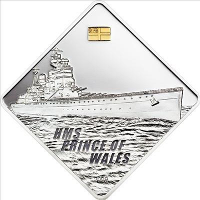 Palau - 2009 - 10 Dollars - HMS Prince of Wales Battleship Series (PROOF)