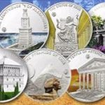 Palau - 2009 - 7 x 5 Dollars - Antique 7 Wonders of the World SILVER (PROOF)