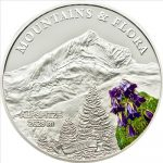 Palau - 2010 - 5 Dollars - Flora & Mountains ALP SPITZE (PROOF)