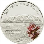 Palau - 2010 - 5 Dollars - Flora & Mountains AYERS ROCK (PROOF)