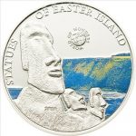 Palau - 2010 - 5 Dollars - World of Wonders EASTER ISLAND (PROOF)