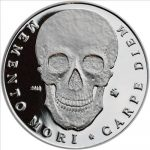Palau - 2010 - 5 Dollars - Memento Skull (PROOF)