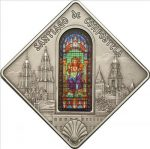 Palau - 2011 - 10 Dollars - Sacred Art Holy Windows SANTIAGO de COMPOSTELA (PROOF)