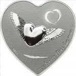 Palau - 2012 - 2 Dollars - My heart flies for you (with box) (PROOF)