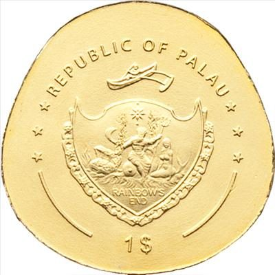 Palau - 2012 - 1 dollar - Golden Ladybug (including box) (BU)