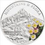 Palau - 2012 - 5 dollars - Mountains and Flora WEISSHORN (including box) (PROOF)