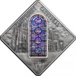Palau - 2015 - 10 Dollars - Sacred Art CANTERBURY CATHEDRAL (including box) (PROOF)