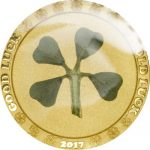 Palau - 2017 - 1 Dollar - Four Leaf Clover in Gold (PROOF)