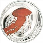 Pitcairn Islands - 2011 - 2 Dollars - Jellyfish Chrysaora (issue 3) (PROOF)