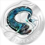 Pitcairn Islands - 2011 - 2 Dollars - Deep Sea Fish Melanostomias Biseriatus (PROOF)