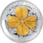 Samoa - 2016 - 5 Dollars - Gold Leaf FOUR LEAF CLOVER (PROOF)