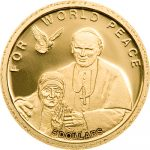 Solomon Islands - 2010 - 5 Dollar - Mother Teresa & JPII World Peace (PROOF)