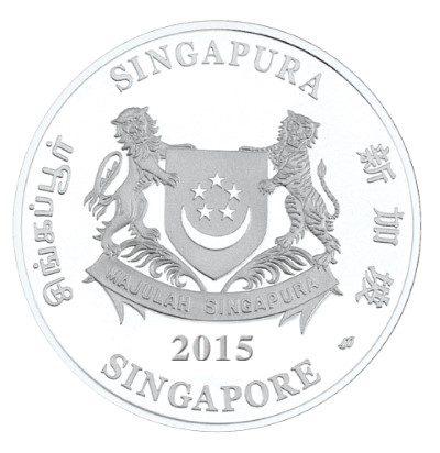 Singapore - 2015 - 5 Dollars - Native Orchids of Singapore DENDROBIUM LEONIS  (PROOF)