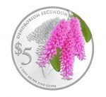 Singapore - 2015 - 5 Dollars - Native Orchids of Singapore DENDROBIUM SECUNDUM (PROOF)