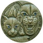 Niue - 2015 - 1 Dollar - Wildlife Family SNOW LEOPARD 1oz (including box) (ANTIQUE)