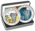 Somalia - 2015 - 2x100 Shillings - African Wildlife Elephant DAY & NIGHT (BU)