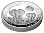 Somalia - 2015 - 100 Shilling - African Wildlife Elephant HIGH RELIEF (PROOF)
