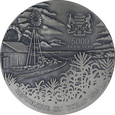 Chad - 2016 - 5000 Francs - Brenham Meteorite