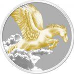 Tokelau - 2014 - 5 Dollars - Year of the Horse PEGASUS GILDED  (PROOF)
