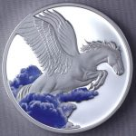 Tokelau - 2014 - 5 Dollars - Year of the Horse PEGASUS COLOR (PROOF)