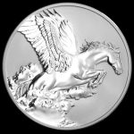Tokelau - 2014 - 5 Dollars - Year of the Horse PEGASUS REVERSE PROOF (PROOF)