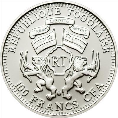 Togo - 2011 - 100 Francs - Prisma Savanne LION (PROOF)