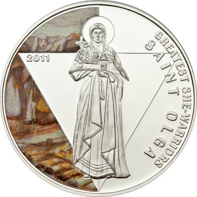 Togo - 2011 - 500 francs - She-Warriors SAINT OLGA (PROOF)