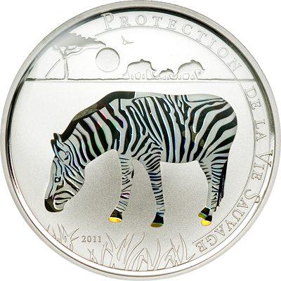 Togo - 2011 - 1000 Francs - Prisma Savanne ZEBRA  (PROOF)