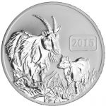 Tokelau - 2015 - 5 Dollars - Year of the Goat REVERSE PROOF (PROOF)
