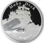 Tuvalu - 2013 - 1 Dollar - Famous Ships That Never Sailed THE PEQUOD (PROOF)