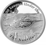 Tuvalu - 2015 - 1 Dollar - Ships That Never Sailed 20.000 LEAGUES UNDER THE SEA (PROOF)