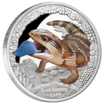 Tuvalu - 2015 - 1 Dollar - Remarkable Reptiles BLUE TONGUED LIZARD (PROOF)