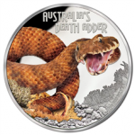 Tuvula - 2016 - 1 Dollar - Deadly & Dangerous DEATH ADDER  (PROOF)