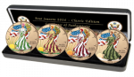 USA - 2016 - 4 x 1 Dollar - Four Seasons EAGLE CLASSIC EDITION (BU)