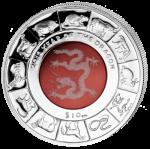 British Virgin Islands - 2012 - 10 dollar - Year of the Dragon crystal (PROOF)