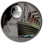 British Virgin Islands - 2012 - 100 dollar - Titanic 1kg Ag (PROOF)