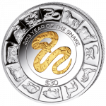 British Virgin Islands - 2013 - 30 dollar - Year of the Snake (PROOF)