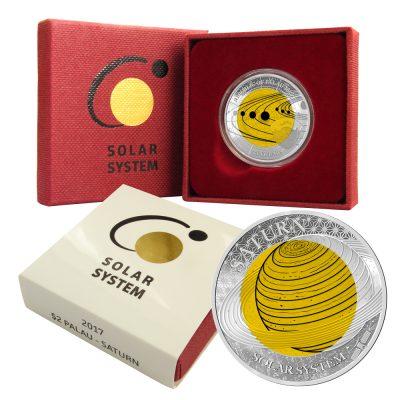 Palau - 2017 - 2 Dollar - Saturn Niobium Solar System