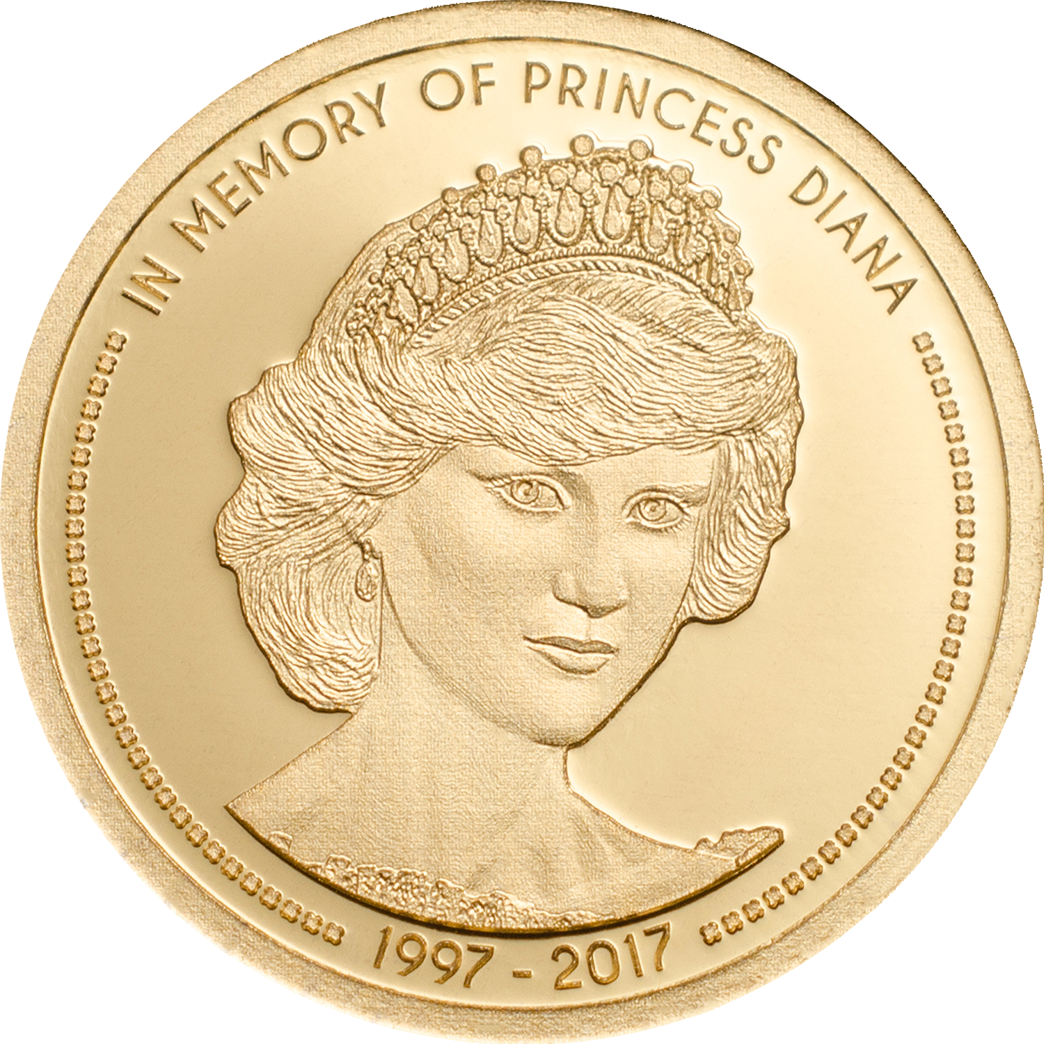 Cook Islands - 2017 - 5 Dollars - In Memory of Princess Diana Small Gold