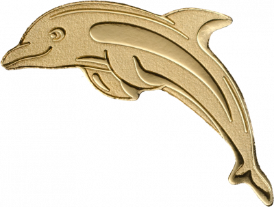 Palau - 2017 - 1 Dollar - Golden Dolphin small gold