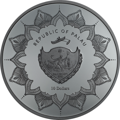Palau - 2017 - 10 Dollars - Laughing Buddha