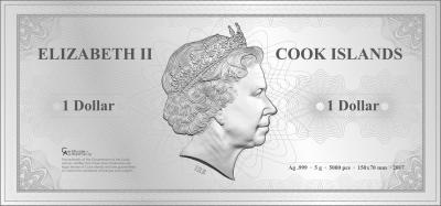 Cook Islands - 2017 - 1 Dollar - Skyline Dollar SINGAPORE
