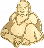 Palau - 2017 - 1 Dollar - Golden Laughing Buddha small gold