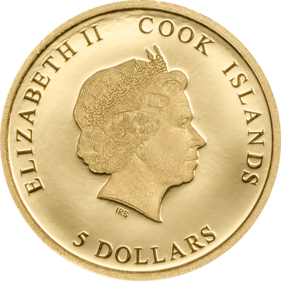 Cook Islands - 2017 - 5 Dollars - Pope Benedict XVI Small Gold