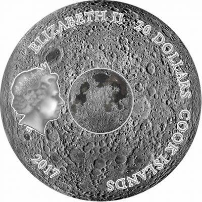 Cook Islands - 2017 - 20 Dollars - Meteorite THE MOON