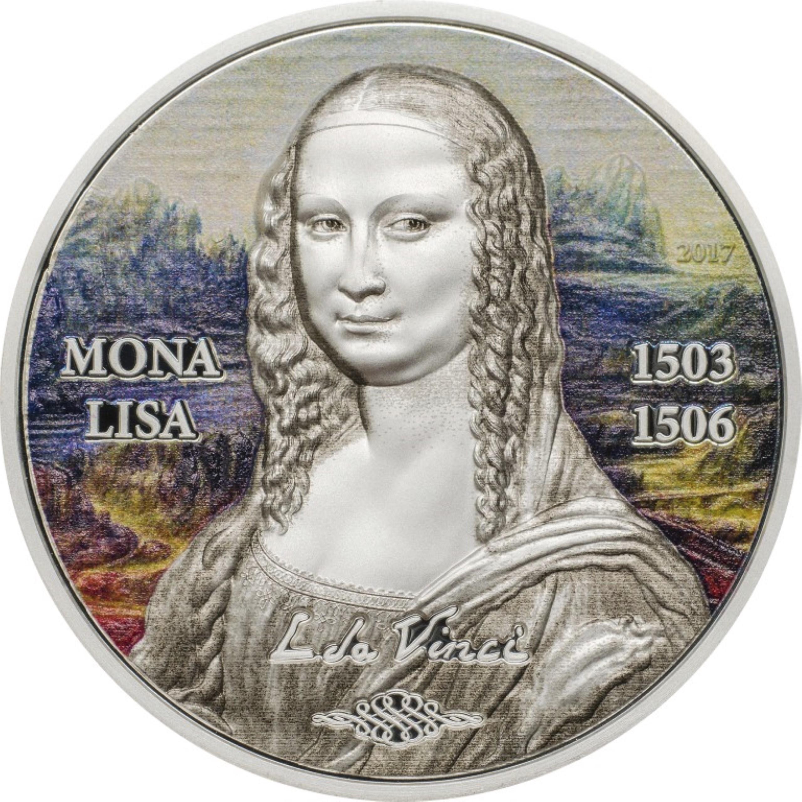 Palau - 2017 - 5 Dollars - Art Revived MONA LISA