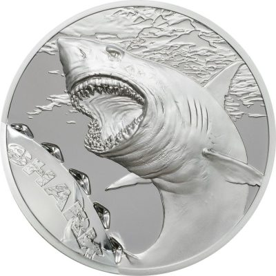 Palau - 2017 - 5 Dollars - Bitemarks The Shark