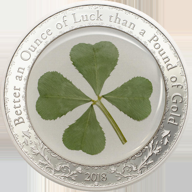 Palau - 2018 - 5 Dollars - Ounce of Luck 2018 Four Leaf Clover (incl box)