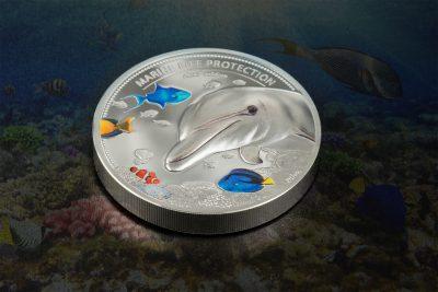 Palau - 2017 - 2x 10 Dollars - Marine Life SEAHORSE & DOLPHIN set
